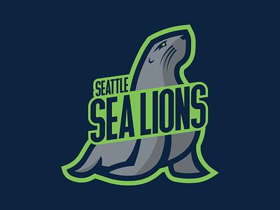 Seattle Sea Lions vector logo illustration design sports nfl nba mlb nhl sea lions lions sea