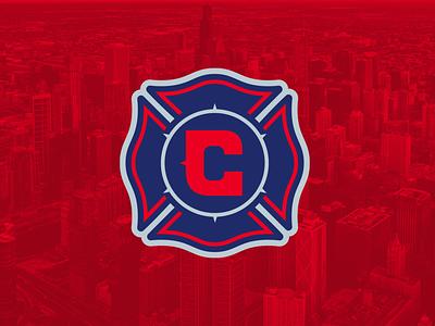 Chicago Fire Logo Concept chicago fire mls soccer fire branding vector sports logo illustration illinois design chicago