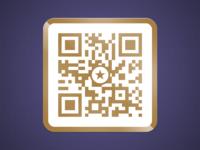 Golden qr code full size