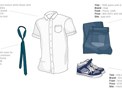 Garrett Gee / Tags / clothing   Dribbble