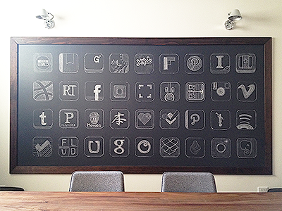 Chalkboard App Icons icons chalk interior design furniture decoration office studio scan iphone app apps white grey photography picture photograph