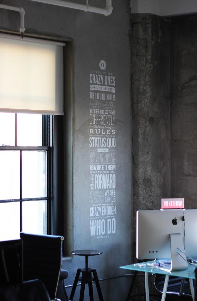 Steve jobs quote wall garrett gee scan