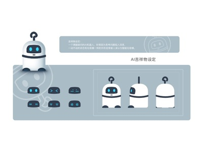 Cute Robot expression mascot logo artificial intelligence mascot robot cute design illustration