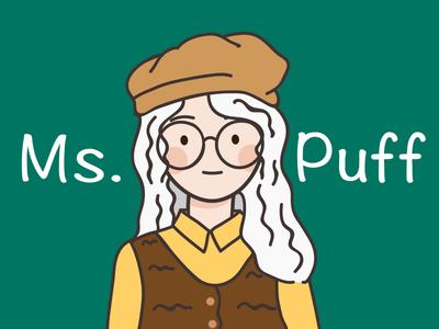 Ms.Puff / 泡芙小姐 vector girl design hand painted illustration