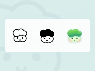Buns face-Chinese Cabbage cute design icon illustration