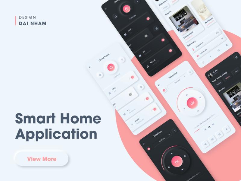 Smart Home App Concept neumorphism neumorphic flat ux ui app