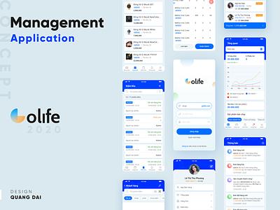 Management App Concept mobile app mobile design mobile ui application ui management xd app design ux ui
