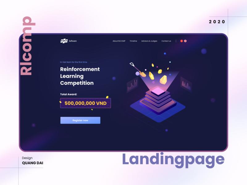 RLCOMP Landingpage - Learning Competition photoshop figma competition landingpage web typography vector illustration branding design branding design flat ux ui