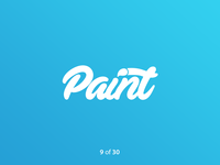 #ThirtyLogos Challenge Day 9 - Paint
