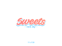 #ThirtyLogos Challenge Day 11 - Sweets