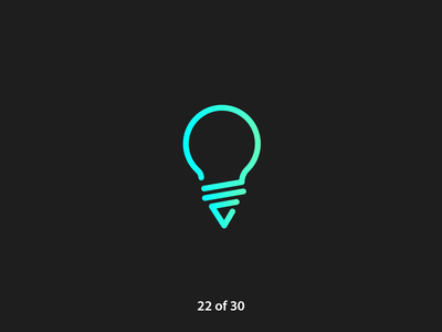 #ThirtyLogos Challenge Day 22 - VMIDEA light bulb bulb logo a day grandient brand graphic graphicdesign challenge icon flat vector thirtylogos thirty day logo challenge logo design daily branding 30 logos