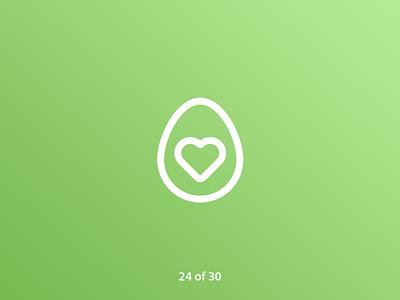 #ThirtyLogos Challenge Day 24 - Avocado avocado heart food logo a day grandient brand graphic icon graphicdesign flat challenge vector thirtylogos thirty day logo challenge logo design daily branding 30 logos