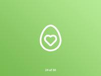 #ThirtyLogos Challenge Day 24 - Avocado