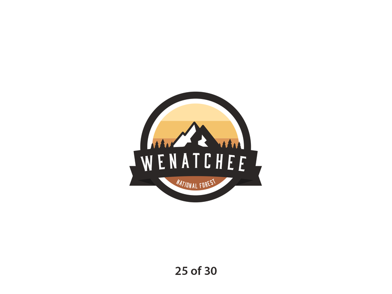 #ThirtyLogos Challenge Day 25 - Wenatchee forest logo retro badge nature forest logo a day brand graphic icon graphicdesign challenge flat vector thirtylogos thirty day logo challenge logo design daily branding 30 logos