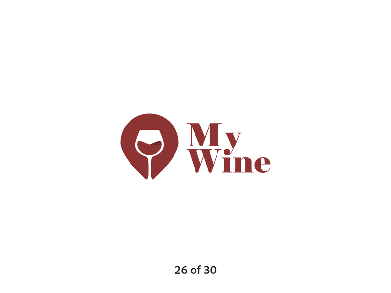 #ThirtyLogos Challenge Day 26 - My Wine delivery gps wine glass wine illustration typography logo a day brand graphic icon graphicdesign challenge vector thirtylogos thirty day logo challenge logo design daily branding 30 logos