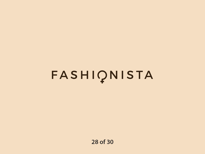 #ThirtyLogos Challenge Day 28 - Fashionista women fashion women sign female fashion typography logo a day brand graphicdesign challenge thirtylogos thirty day logo challenge logo design daily branding 30 logos