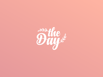The Day  Wedding Agency Logo day marriage girl pink nature agency wedding typography brand icon vector design logo branding