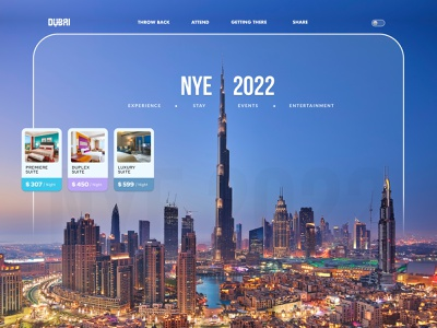 Dubai New Year Eve 2022 featured latest how about product design web ui concept faizan saeed home page interface attractions dining stay hotels booking uae dubai design ui design ui web design