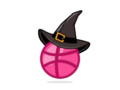 Dribbble Bewitched logo icon faizan saeed sticker design sticker mule vector haloween illustration type flat concept dribbbble