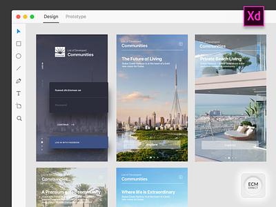 Property Launch with Adobe XD branding interfaces iphone illustration app design creativity login box launch property design ux ui