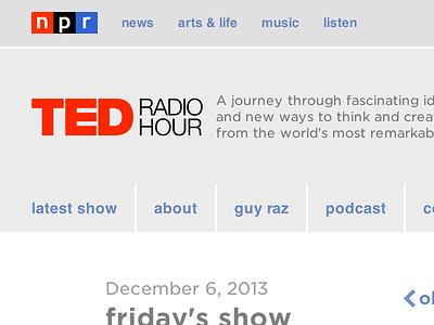 Responsive NPR Programs audio controls rundown segments rwd