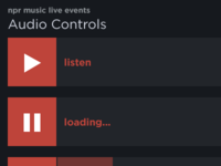NPR Music Live Events Audio Controls & Design Patterns