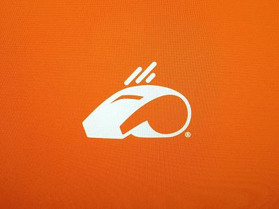 W.I.P. icon symbol logo branding whistle orange