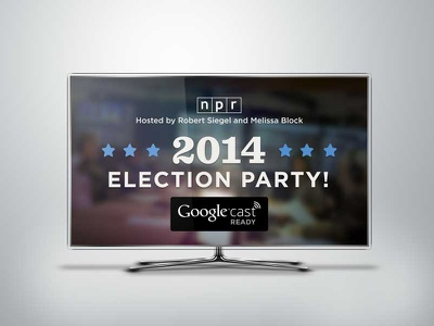 NPR 2014 Election Party for Chromecast stateface branding npr chromecast multimedia tv gotham sentinel geomicons chrome