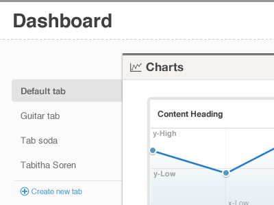 Dashboard Tabs ux wireframe graph ui chart tab geomicons web app line graph stats dashboard data