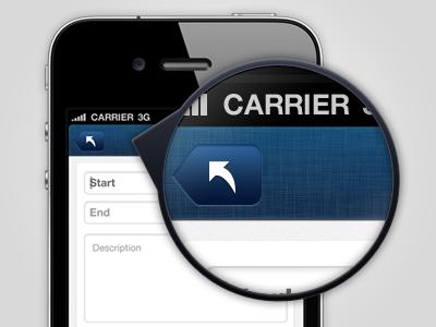 WIP: Mobile App mobile ios ui navigation blue linen texture iphone