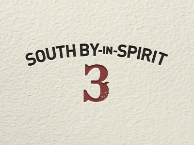 South by in Spirit 3 paper texture letterpress logo sxsw event din bleeding cowboys western