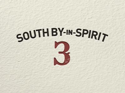 South by in Spirit 3 paper texture letterpress logo sxsw event din bleeding cowboys western