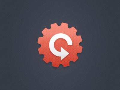 Symbol Enhancements logo design tech startup cog refresh marketing