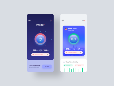 VPN App UI Design