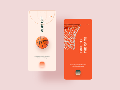 Onboarding Layouts - Play Off Basketball App userinterface onboarding app sports game basketball black orange uxdesign uidesign uiux adobe xd colors experience photoshop creative design ux ui clean