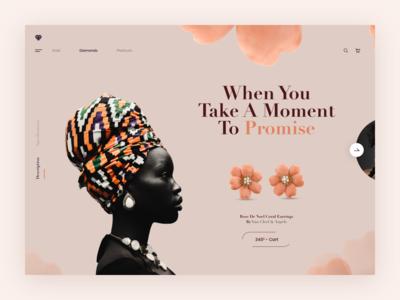 Jewellery - Website Design Concept