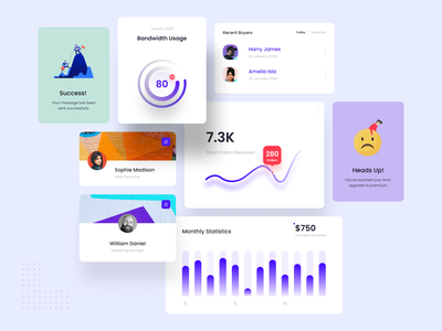 Cards Ui Design new 2020 trend minimal cards design cards ui cards card purple recommended blue experience suggestions white uidesign clean design ui colors creative