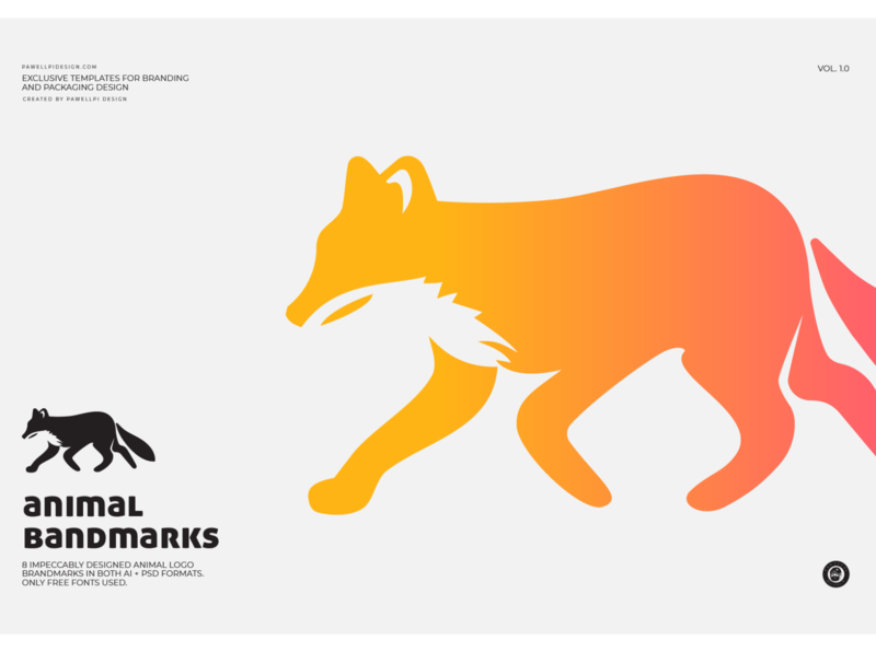 animal brandmark (fox) design pawellpi collection premium branding free mockup mockup free download download download for free free icon free logo free psd freebie freebies free