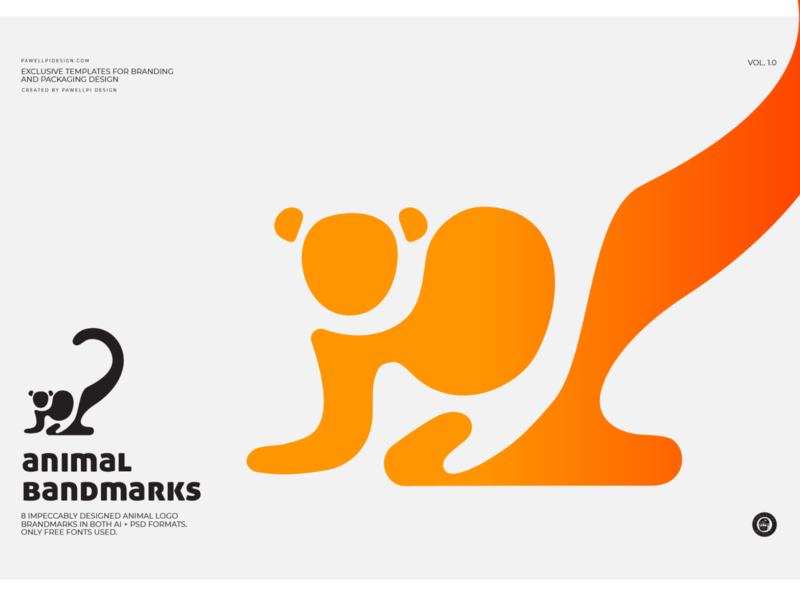 animal brandmark (monkey) pawellpi collection premium branding monogram icon free downloads free mockup freebies freebie free download download for free free psd free logo free monkey logo monkey