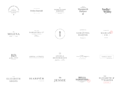 24 elegant femenine logos vol 8 minimal feminine the bundle elegant logo high end design pawellpi collection premium branding