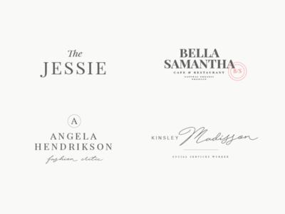 24 elegant femenine logos vol 8 feminine the bundle elegant logo high end design pawellpi collection premium branding