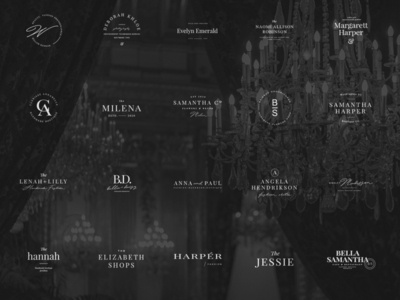100 elegant femenine logos vol 2.0 minimal feminine the bundle elegant logo high end design pawellpi collection premium branding
