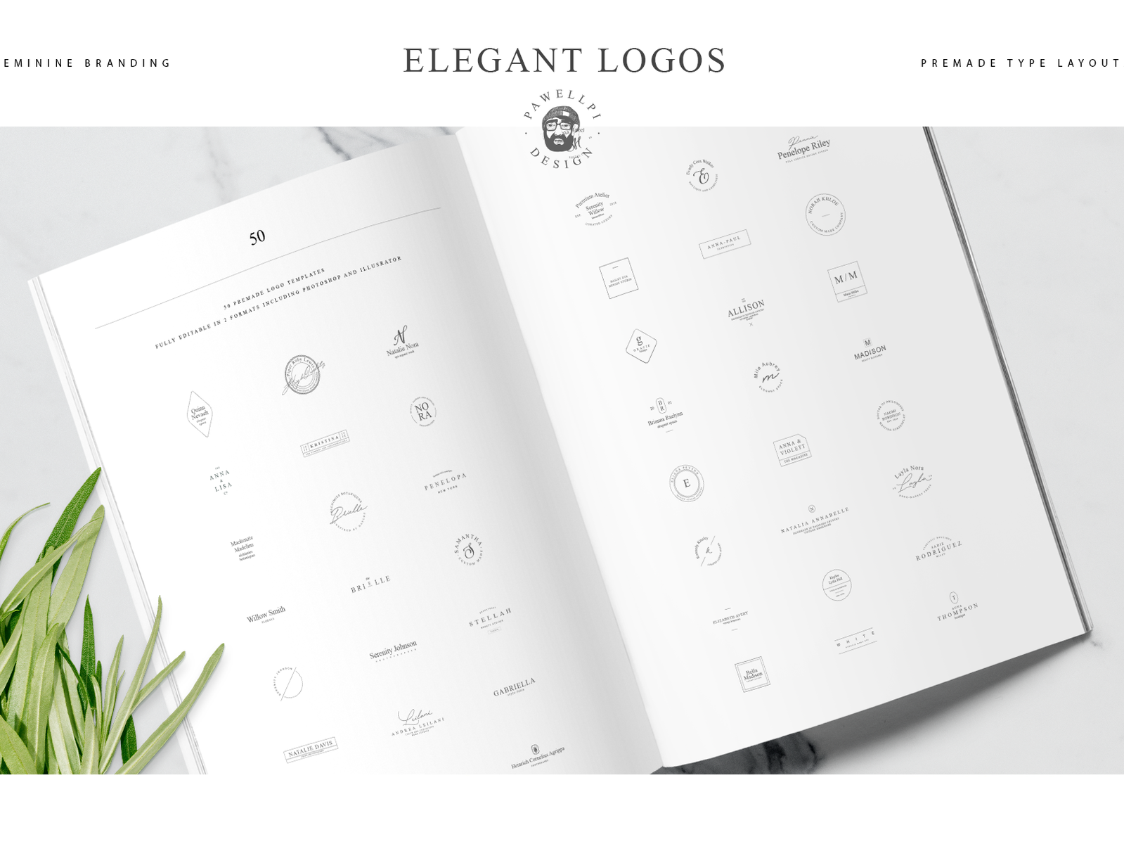 50 elegant premade logo template by pawellpi design dribbble