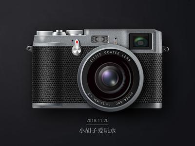 Fuji  Camera realistic drawing ui camera fuji icon poster illustration