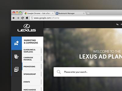 Lexus Asset Portal extranet application app responsive