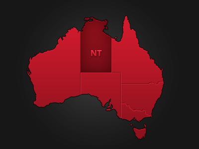 Australia State Map map australia