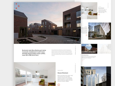Architecture Landing Page landing page digital web layout experiment ux mockup ui architecture