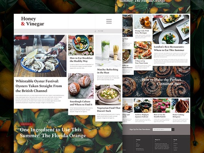 Food Blog Layout mockup web photography design ui layout blog food