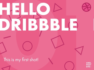 Hello, Dribbble! This is my first shot. 😄 typography vector branding debut firstshot graphicdesign