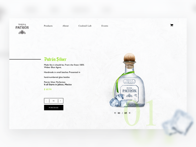 Product Hero  | Patrón web deisgn ui  ux design hero shop booze onepage checkout page product
